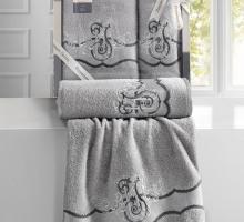 Комплект махровых полотенец ''KARNA'' ADVEN 50x90-70х140 см