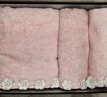 """Полотенце махровое """"KARNA"""" с вышивкой MYHOME 30x50* 50x100*100x150 1/3"""