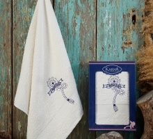 """Полотенце махровое в коробке """"KARNA"""" ROTA (50x90) см"""